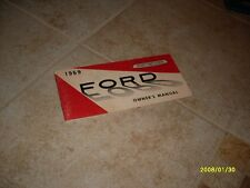 1969 Ford Owners Manual Owner's Guide Book Original Fairlane Galaxie Falcon