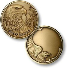 Bald Eagle antique Bronze Engravable Medallion coin
