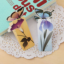 6Pcs Mini Cute Butterfly Book Note Comics Magazines Bookmarks Reading Marker New