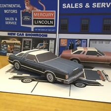 Papercraft EZU-build 1978 Ford Thunderbird Coupe Paper Model Toy Car U make it!