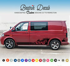Urban graffiti side stripe sticker decal kit graphique vw transporter T4 T5 T6 swb