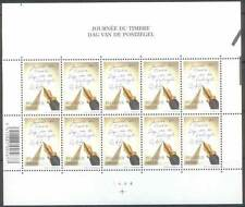 "Belgium**STAMPDAY 2002 ""Write Letters""-Pen-SHEET 10stamps-MNH-Journée du Timbre-"