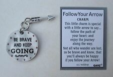 aa Be brave and keep going FOLLOW YOUR ARROW Pocket Charm token Ganz