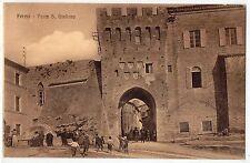 CARTOLINA 1915 FERMO PORTA S. GIULIANO RIF 10851