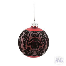 Authentic Disney Parks The Haunted Mansion Large Glass Ball Ornament - Red