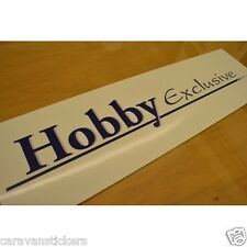 HOBBY 'Hobby Exclusive' Rear Roof Caravan Name Sticker Decal Graphic - SINGLE