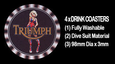 4  x   TRIUMPH LATE MODEL LOGO GIRLIE MOTORCYCLE MOTOR CYCLE DRINK COASTERS