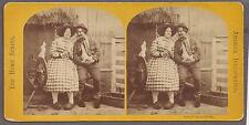Dutch courtship c. 1900 funny stereo photo