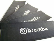 4x 80MM BREMBO BRAKE CALIPER STENCIL STICKERS, CUT-OUT, PAINT OVER DECAL