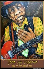 John Lee Hooker Tribute Poster by Cadillac Johnson