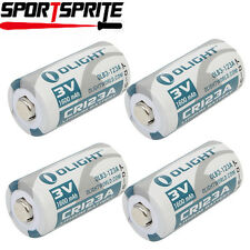 4pcs Olight CR123A 3.0V 1600mAh Battery Cell For SureFire Flashlight Camera UK