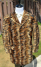 VTG RARE TIGER STRIPE Pimp SUIT Plush Men's Blazer Jacket 44 R Pants 36 X 28