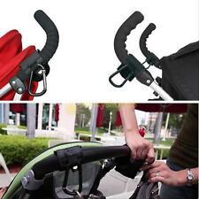 2 pcs Stroller Pram Pushchair Clip Hooks Shopping Bag Hook Stroller Holder