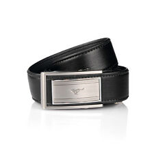 Men Belt Pure Cow Real Genuine Leather Auto Lock Buckle Casual Black 1106600-x