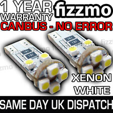 2x ERROR SIN OBC CANBUS 8 SMD LED 501 T10 W5W XENÓN BLANCO HID