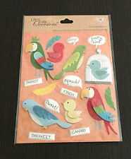 SCRAPBOOKING STICKERS LIFE'S LITTLE OCCASIONS OISEAUX