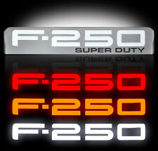 Ford Super duty F250 LED Lighted Fender Emblems 2008,2009,2010 By Recon CHROME