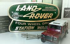 Land Rover Defender 110 Brass Bronze Green Tub Heritage Rear Body Badge Solihull