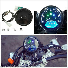 12V 12000RMP Motorcycle CD Digital Speedometer Odometer Tachometer 1-4 Cylinders