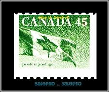 CANADA 1992 CNAADIAN MAPLE LEAF FLAG FACE 45 CENT MNH PRINT SHIFTED STAMP ERROR
