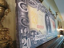 HUGE 40-INCH CANVAS! - UNITED STATES 1905 $20 DOLLAR GOLD COIN CERTIFICATE NOTE
