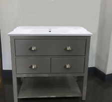 Traditional Painted Wash Stand 80cm wide Drawer Cabinet, Bathroom Vanity Cabinet