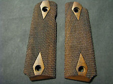 Browning 1911-22/380 Checkered Dbl-Dia English Walnut Pistol Grips Beautiful