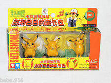 ~ POKEMON PIKACHU ~PLASTIC YELLOW CAKE TOPPERS , AULDEY  PARTY SUPPLIES