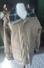 VTG Woolrich Wool Blanket Lined Raincoat Coat Parka Jacket Medium md in USA