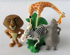 Madagascar Alex Marty Playset 4 Figure Cake Topper * USA SELLER* Toy Doll Set