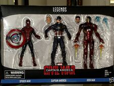 Marvel Legends Series Civil War Captain America,Spider-Man,Iron Man 3-Pack Set