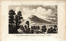 DINAS-BRAN  CASTLE  - LLANGOLLEN - SCARCE 235 YEARS OLD COPPERPLATE ENGRAVING