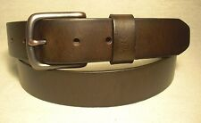 Levi's Mens Dark Brown Genuine Leather Belt Size 42 NWT $30