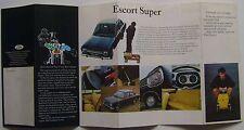 Ford escort mk 1 de luxe super gt 1968 original uk lancement dépliant sales brochure