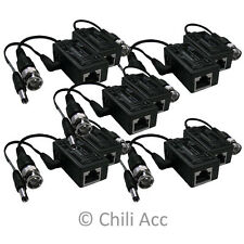 5 Pair Male BNC to RJ45 Security Camera Balun with Power Transceive Connector