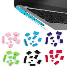 9pcs Silicona Anti Polvo Enchufe Puertos Funda Set Para Portátil Macbook Pro 13