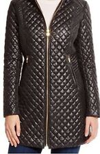 NWT Women's Designer Black VIA SPIGA Quilted Jacket Coat Size Small