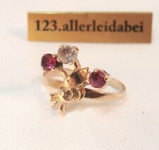 Toller Russischer Spinell Ring 583 er Rotgold Gold  / AO 1009
