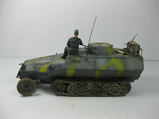 BUILT 1/35 SCALE GERMAN SDKFZ 251 FIELD MODIFIED HALFTRACK WITH PANZER I TURRET