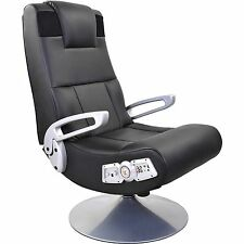 X Rocker Pedestal Video Gaming Chair, Bluetooth, Black