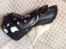 IRON FIST Infidelity  Peep toe Platform Shoes UK 4 EUR 37 RARE! Last One. Reduce