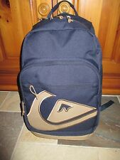 NWT QUIKSILVER ~Full Size~ Classic Navy/Tan Backpack School, Skate, Surf-Laptop!