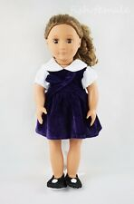 Purple Dress & Shoes Miniskirt Party Skirt For 18'' American Girl Doll Clothes