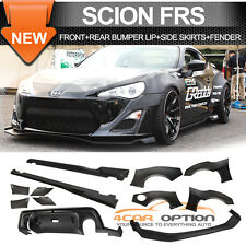 Fit For 2013-2016 Scion FRS FR-S GT86 Front Rear Bumper Lip + Side Skirt ABS