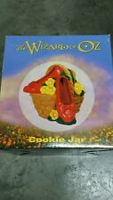 The Wizard Of Oz   Ruby Slippers on Basket   Cookie Jar - New In Box 1999