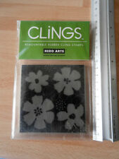Hero Arts Cling Rubber Stamp - flowers