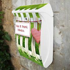 Burg Wächter Postkasten Design Motiv Briefkasten 27x42x13cm Ihr eigener Text NEU