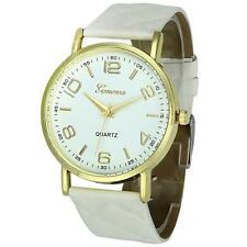 Geneva Womens Fashion Watch Ladies Casual Faux Leather Analog Quartz Wrist Watch