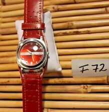 DIESEL MEN'S RED LEATHER BAND WATCH F72