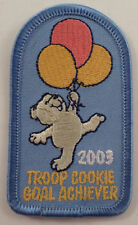 Girl Scouts Gs Vintage Uniform Patch Troop Cookie Goal Acheiver 2003 Teddy Bear